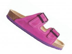 Zdravotní pantofle korkáče Protetika T18 růžové