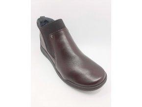 Santé RE/101 Bordo dámské kotníkové boty