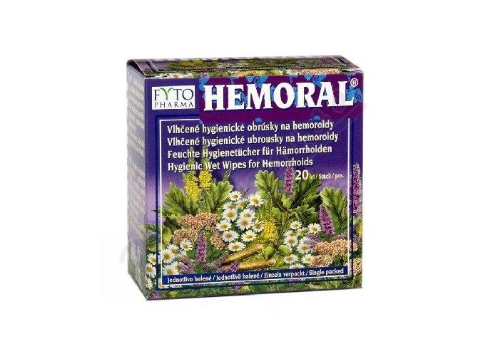 Hemoral vlhčené hyg. ubrousky na hemoroidy 20ks