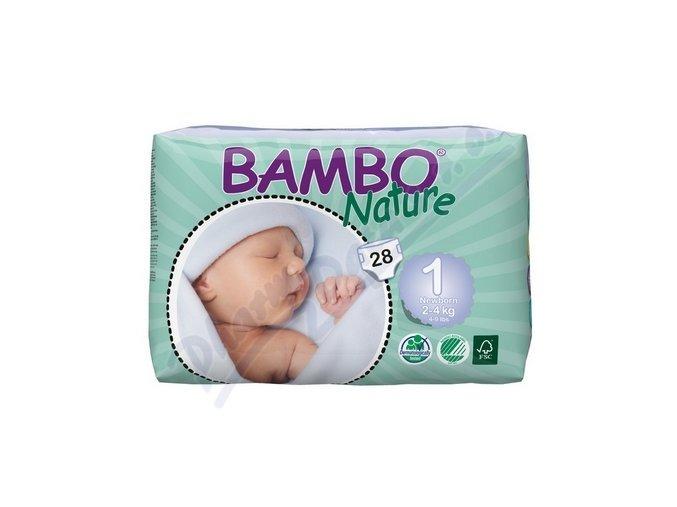 BAMBO Nature New Born plenkové kalhotky 2-4kg 28ks vel 1