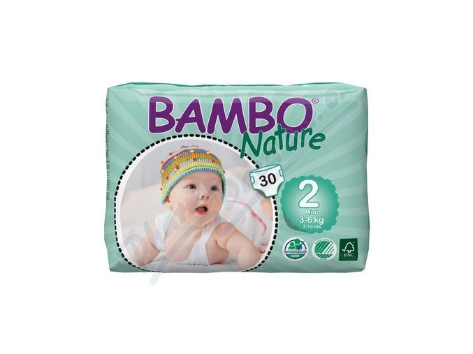 BAMBO Nature Mini plenkové kalhotky 3-6kg 30ks vel 2