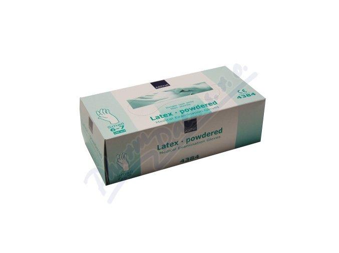 Rukavice vyšetřovací Latex S (6-7) pudrované 100ks