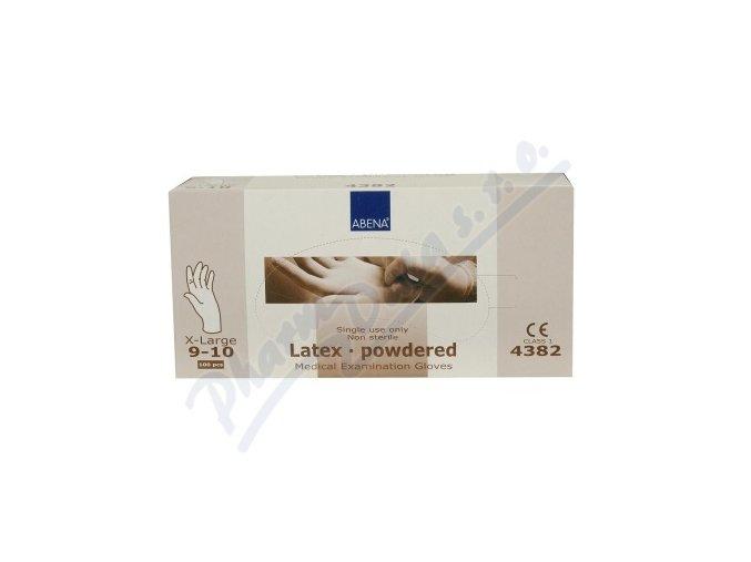 Rukavice vyšetřovací Latex XL (9-10) pudrované 100ks