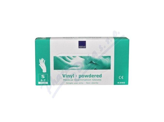 ABENA Rukavice vyšetřovací Vinyl S (6-7) pudrované 100ks