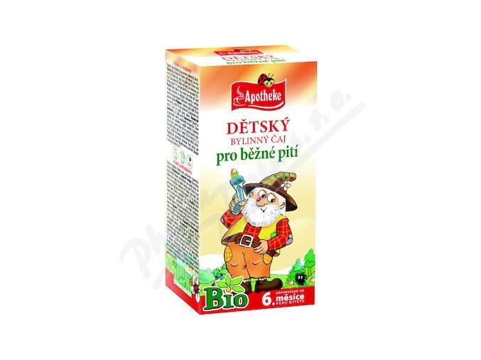 Apotheke BIO Dětský čaj bylinný-běžné pití 20x1.5g