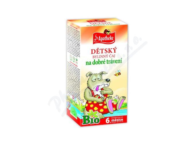 Apotheke Dětský čaj BIO dobré trávení 20x1.5g n.s.