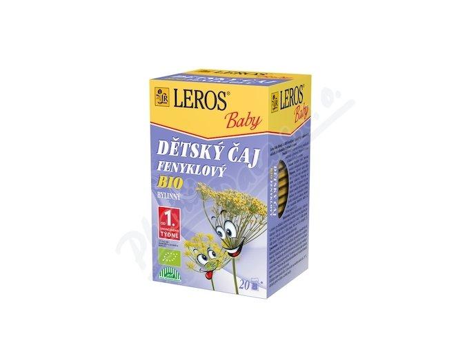 LEROS BABY BIO Dětský čaj Fenyklový n.s.20x1.5g