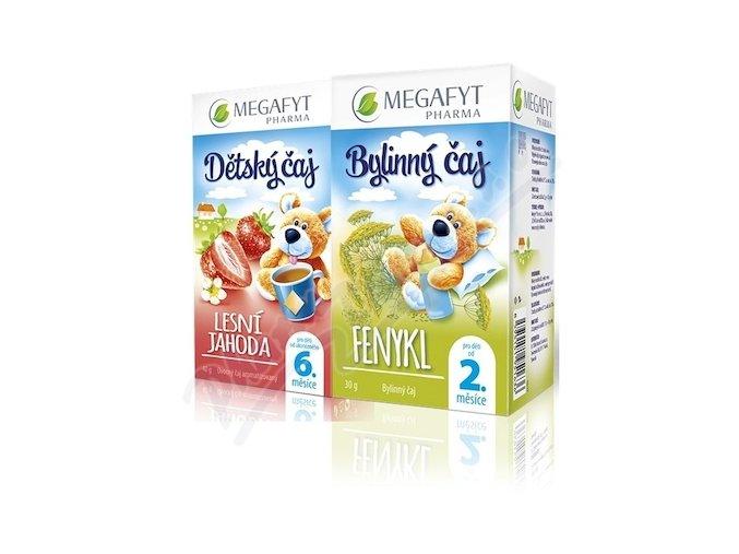 Megafyt Dětský čaj les.jahoda 20x2g+Fenykl 20x1.5g