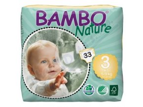 BAMBO Nature Midi plenkové kalhotky 5-9kg 33ks vel 3