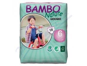 BAMBO Nature Pants XL navlékací plenkové kalhotky trénink 18ks