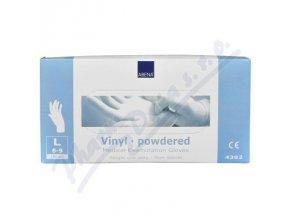 ABENA Rukavice vyšetřovací Vinyl L (8-9) pudrované 100ks