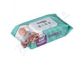 BAMBO Nature dětské vlhčené ubrousky 80ks