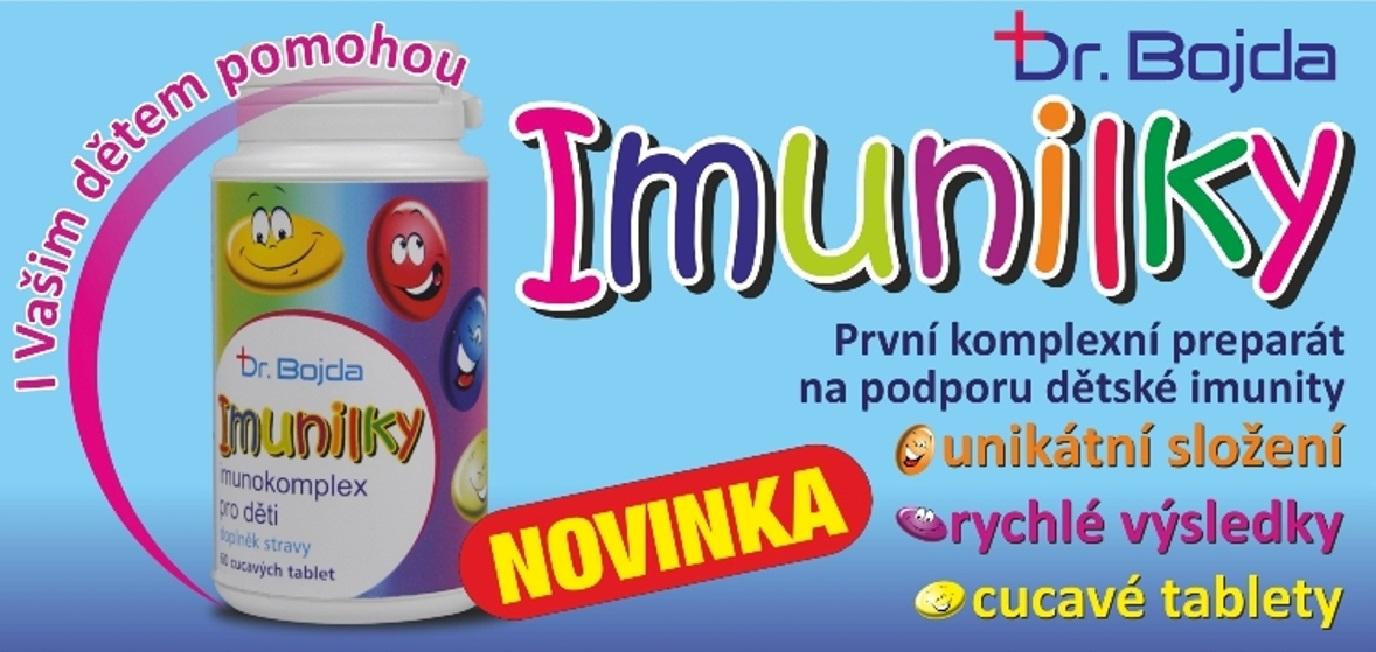 první velmi komplexní preparát na trhu v ČR určený ke globálnímu posílení imunitního systému dětí.