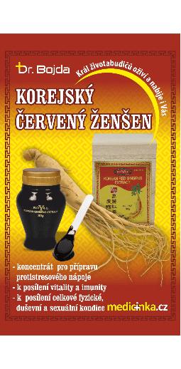 Červený ženšen | Dr. Bojda | pravý neředěný životabudič | medicinka.cz