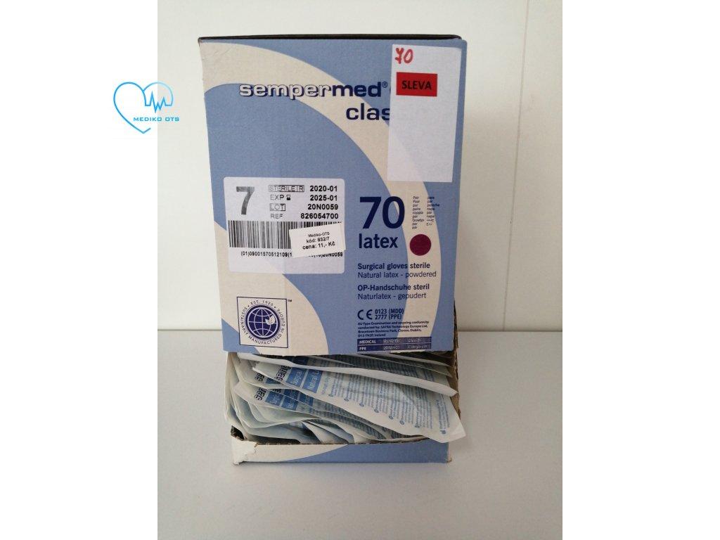 Rukavice sterilní latex Sempermed Classic různé velikosti