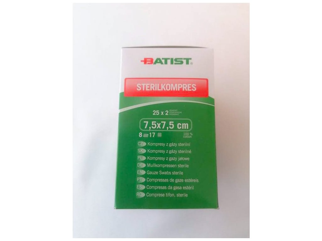 Kompres gáza sterilní 7,5x7,5cm 25x2ks (2)