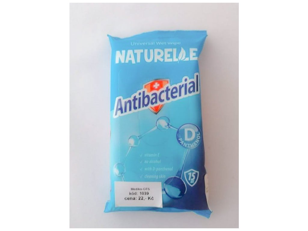 Naturelle antibakt. vlhč.ubrousky s D-Panthenolem /15 ks/
