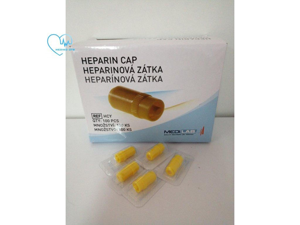 Heparinová zátka žlutá
