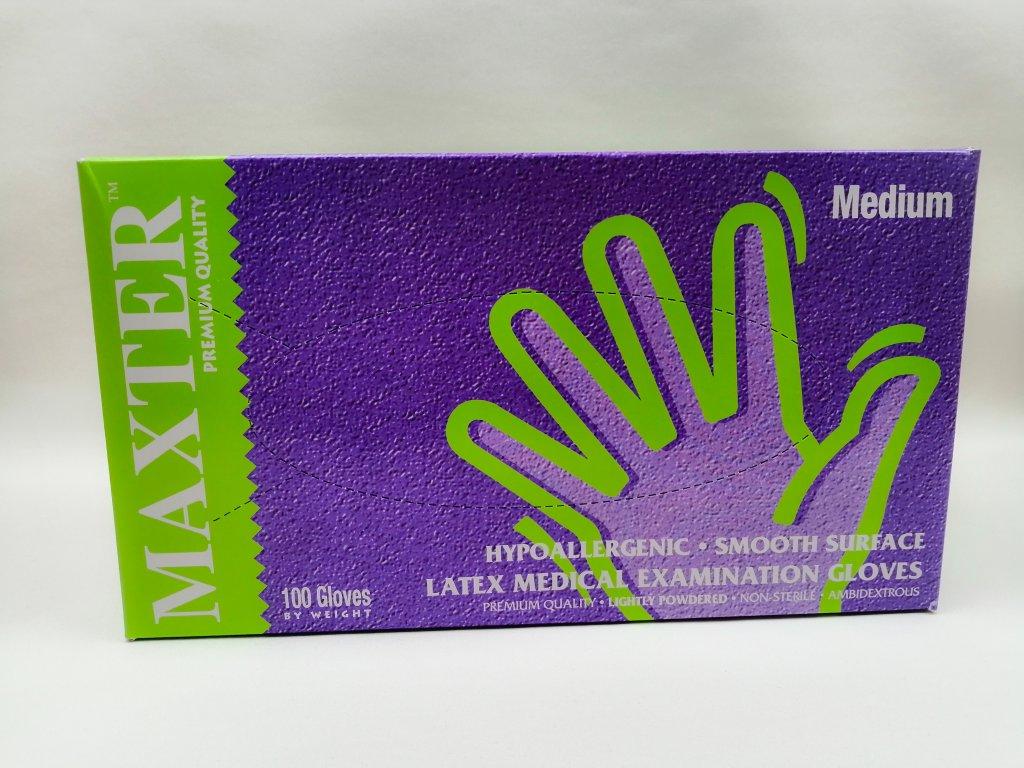Rukavice latex s pudrem vel. M 100 ks