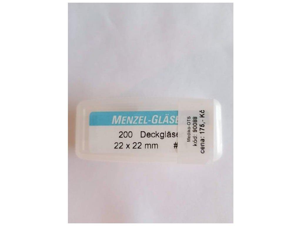 Krycí skla mikroskopická 22x22 mm 200ks
