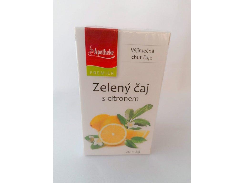 Apotheke čaj zelený s citronem