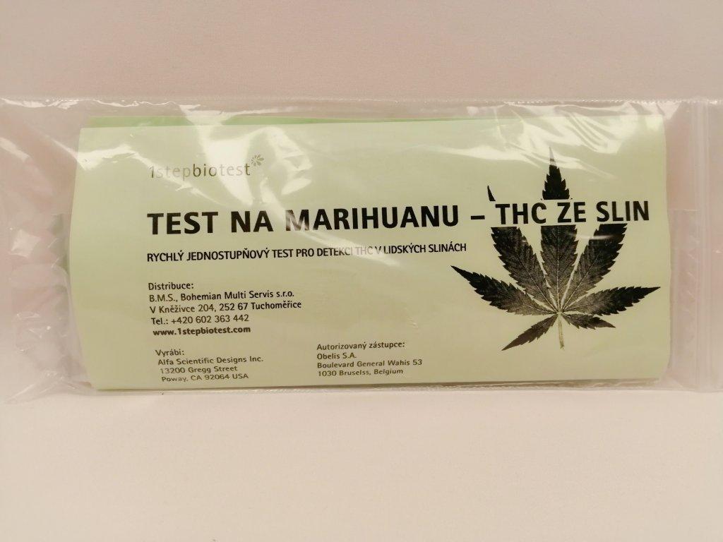 Test na marihuanu ze slin