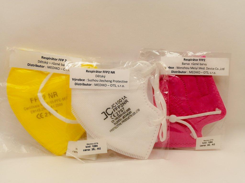 Respirátory dětské barevné (1)