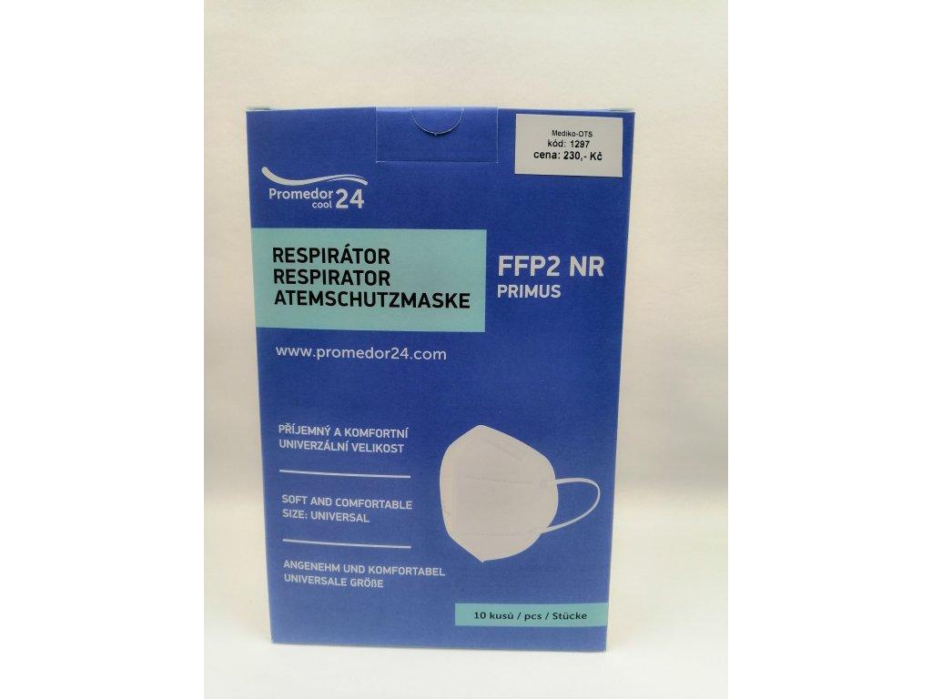 Respirátor FFP2 Primus NR bílý 10 ks