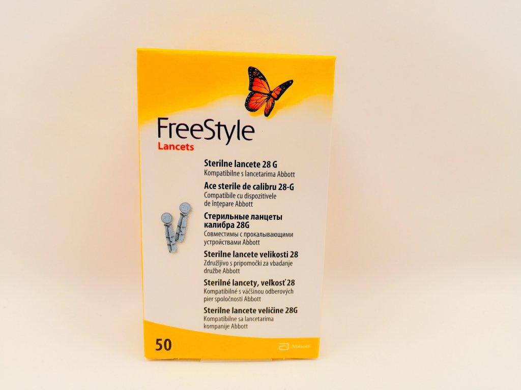 Lanceta sterilní 28 G Freestyle 50 ks