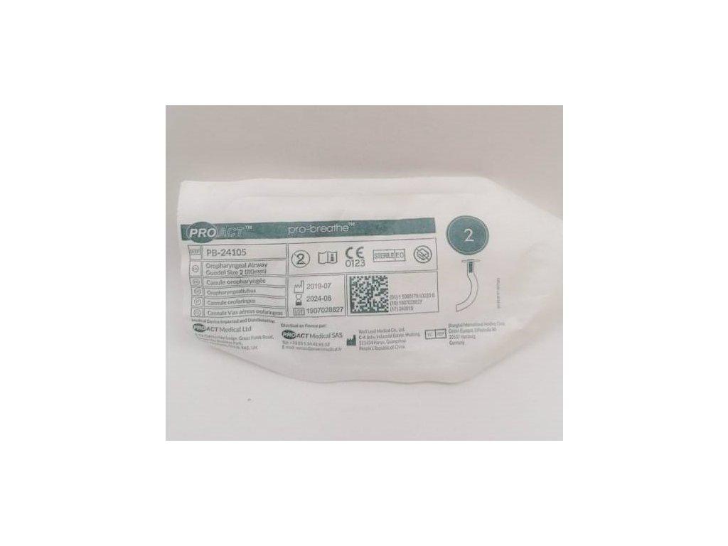 Vzduchovod ústní č. 2 80 mm zelený
