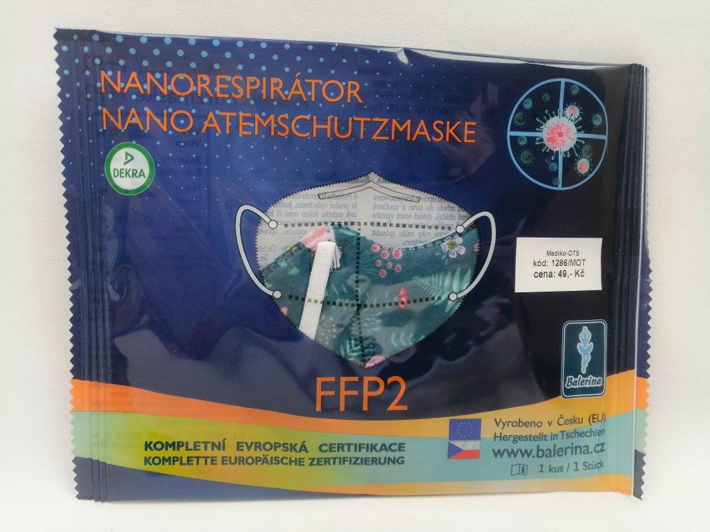 Respirátor FFP2 dětský nano motýli