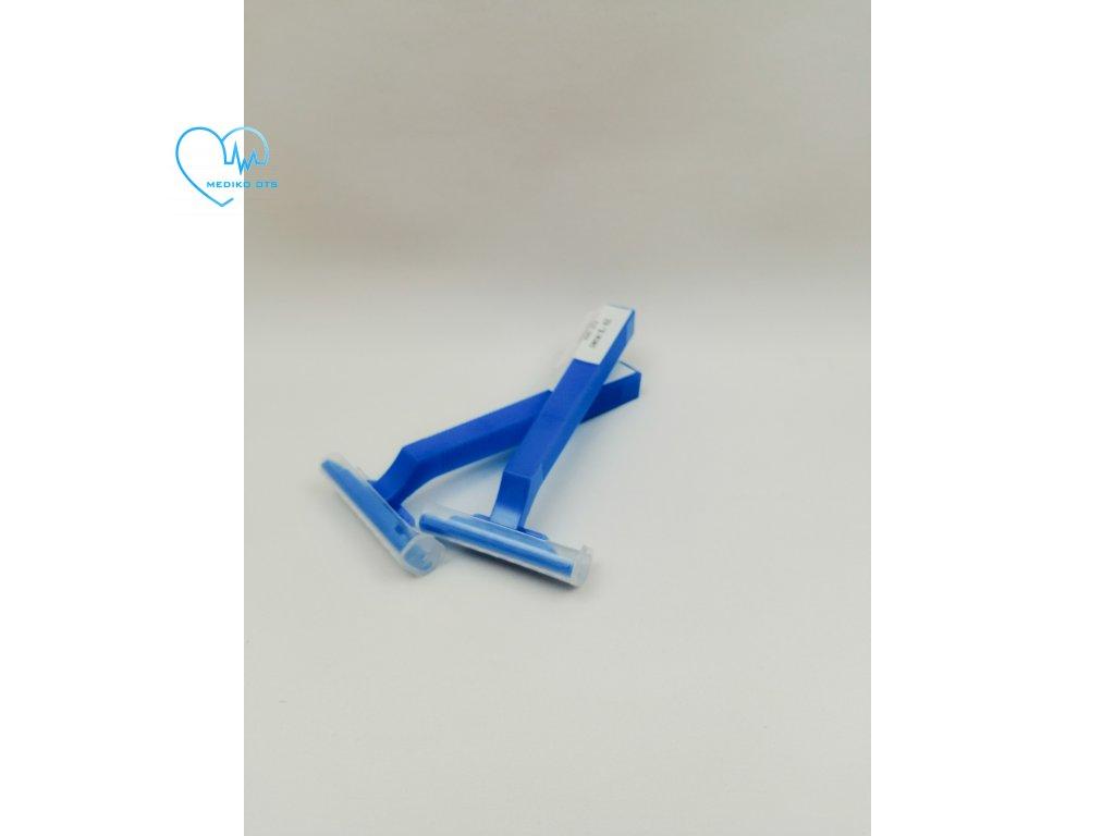 Holící strojek jednorázový modrý 1 ks