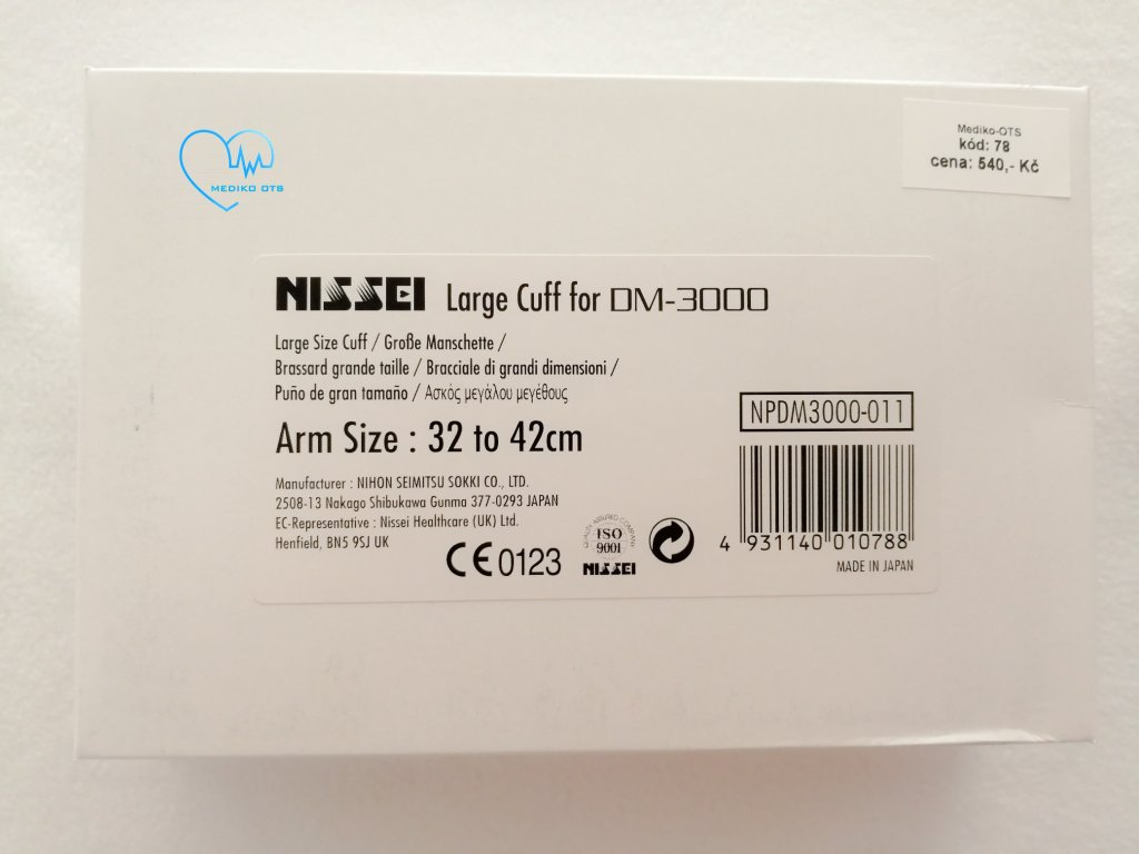 Velká manžeta k tlakoměru Nissei DM-3000
