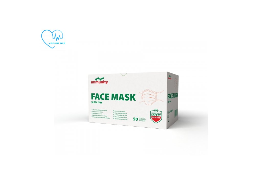 face mask with ties maska s uvazky