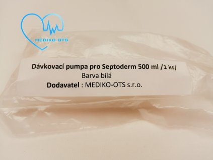Plastový dávkovačm pro Septoderm 500 ml