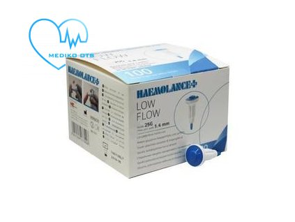 Haemolance plus low flow modrá lanceta 100 ks