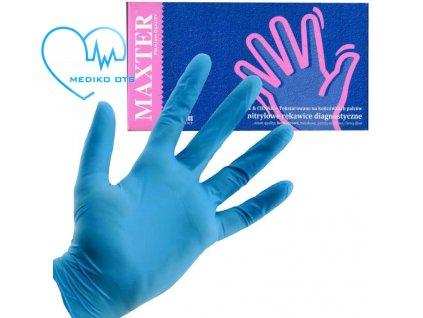 0010434 maxter pracovni jednorazove rukavice modre