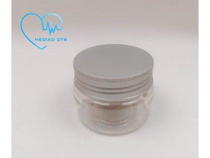 Plastový kelímek čirý 50 ml se stříbrným víčkem