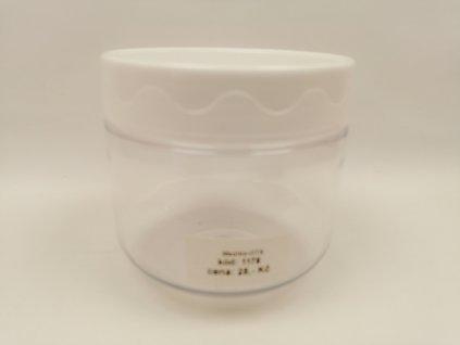 Plastový kelímek čirý 100 ml se stříbrným víčkem