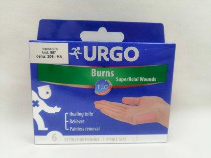 Urgo BURN náplast na popáleniny 5 x 7 cm 6 ks