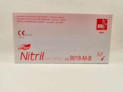 Rukavice nitrilové bílé 100 ks vel. M