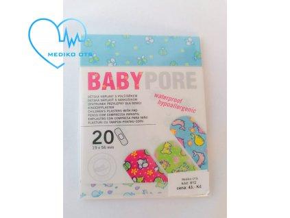 Náplast dětská Babypore 20 ks
