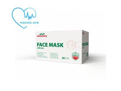 face mask with ties maska s uvazky