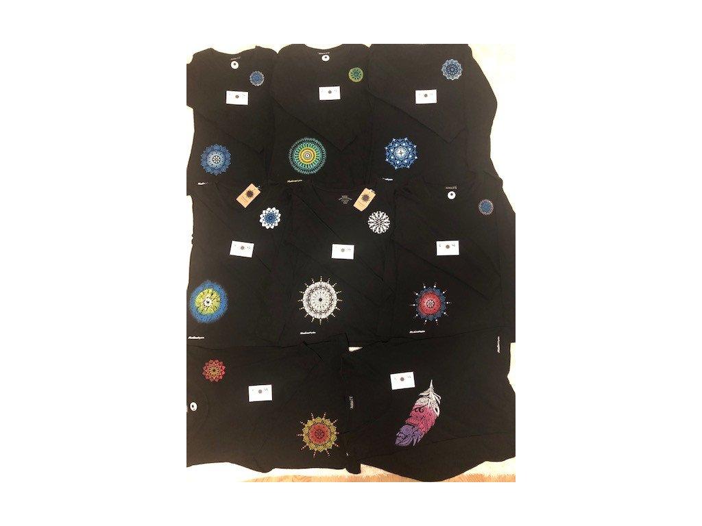 Tričko s ručním malováním-dlouhý rukáv