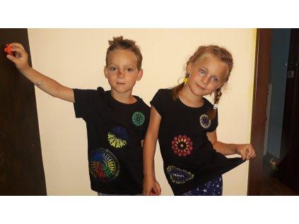 Dětská trička s mandalami