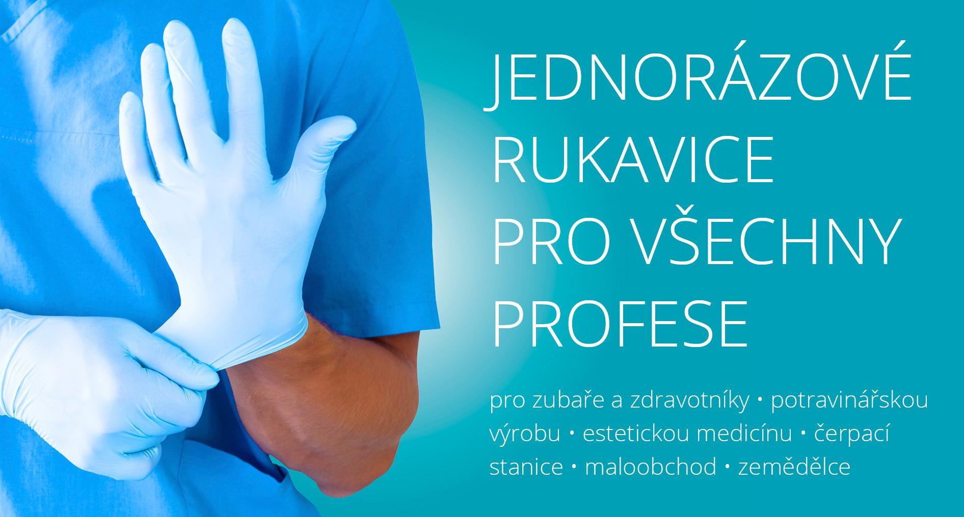 Jednorázové rukavice pro všechny profese