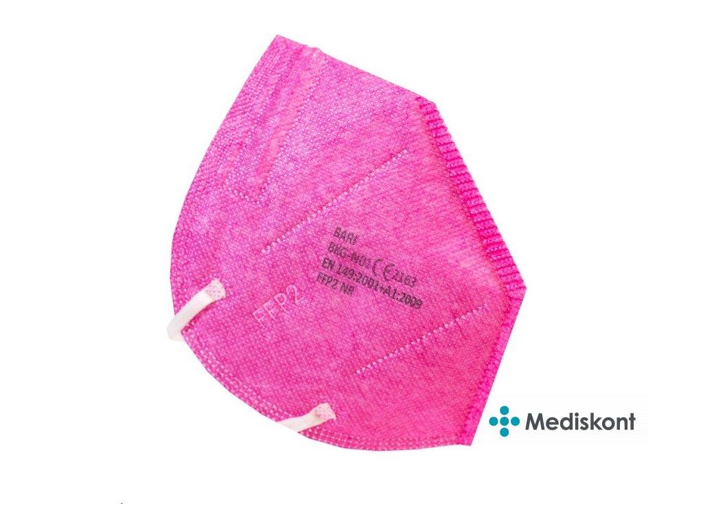 respirator mc trida ochrany ffp2 ruzovy