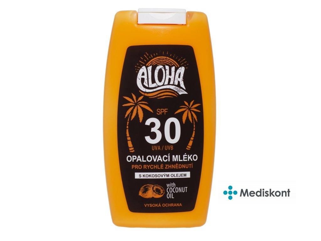 Opalovací mléko s kokosovým olejem SPF 30 ALOHA 200 ml