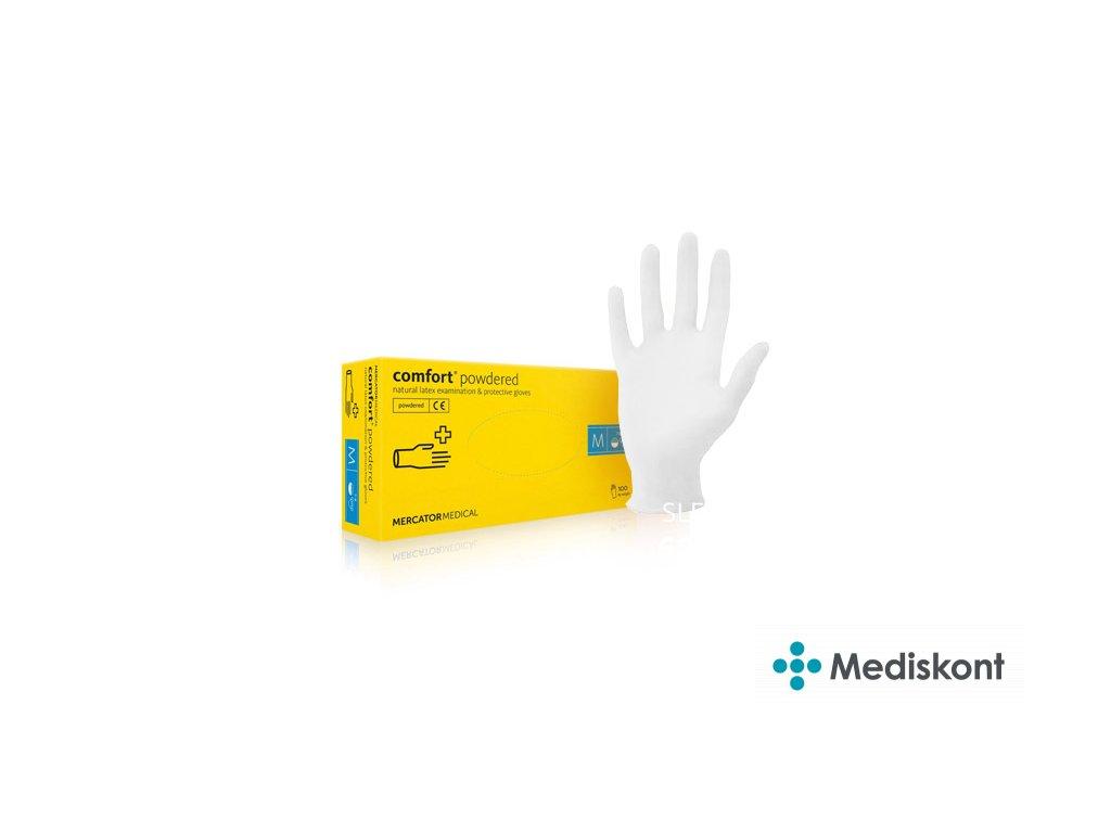 mercator medical comfort powdered jednorazove rukavice mediskont