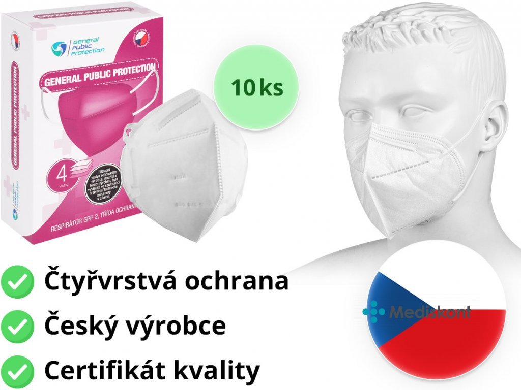 respirator ffp2 general public protection 10ks mediskont